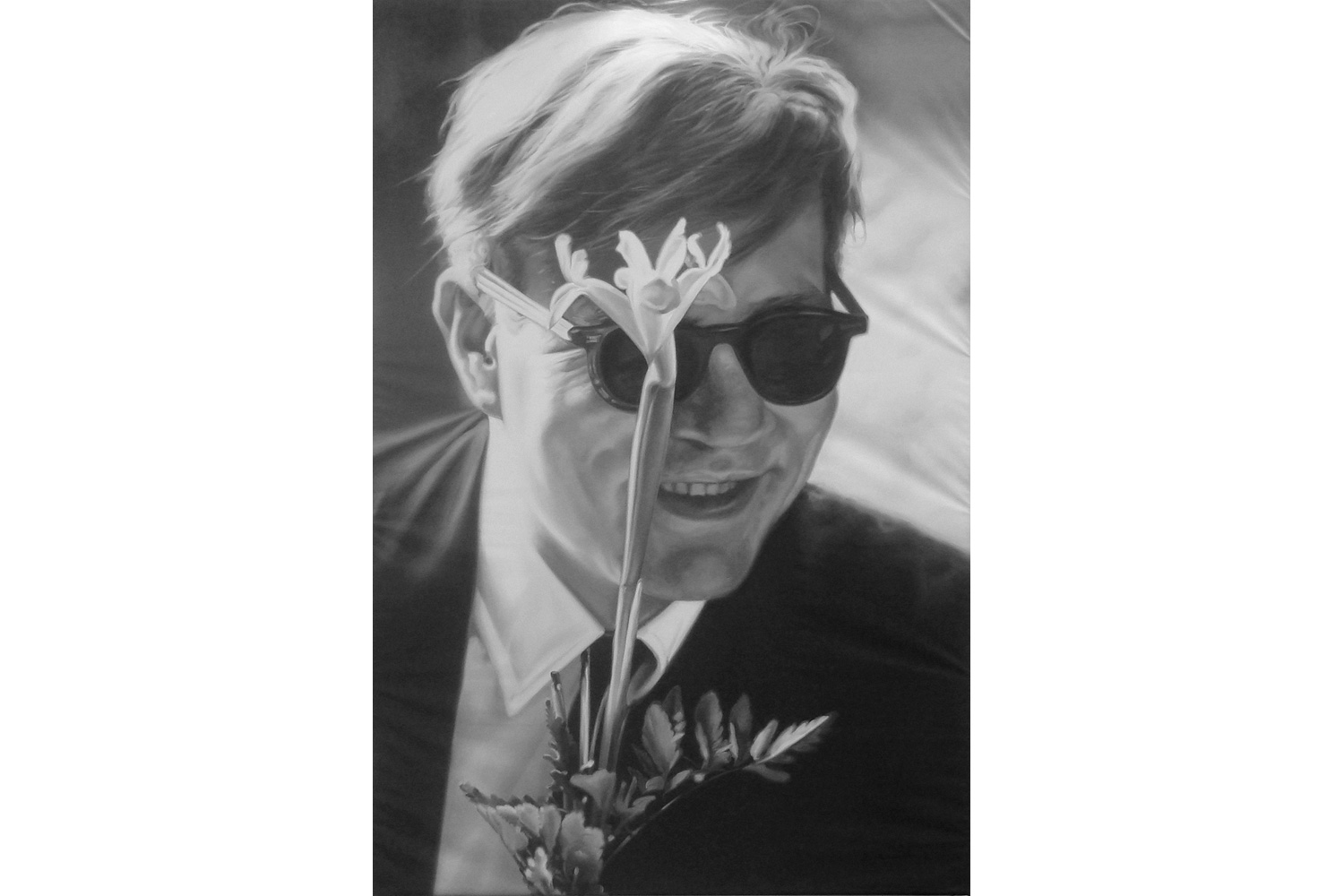 Andy Warhol (with flower smiling) 13ea6a31818a